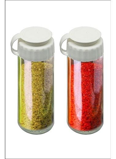 Kitchen Love Kapaklı Cam Tuzluk&Biberlik-2 lı set Renkli